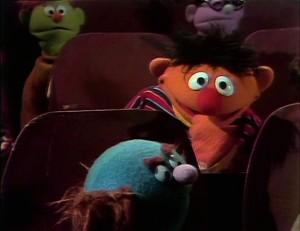 Ernie is a loud snacker.