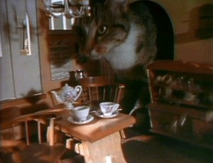 A Henson family cat in the dollhouse!