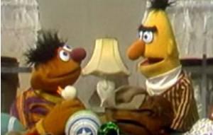 Bert complains about Ernie's mess.