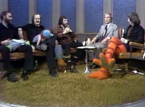 Dick Cavett and the Muppets' puppeteers.