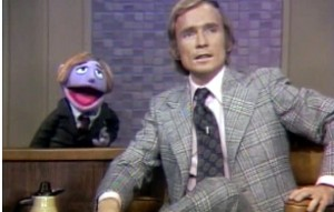 Dick Cavett and his Muppet double.