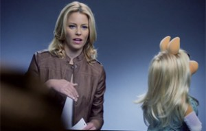 """Piggy auditions for """"The Hunger Games"""" with Elizabeth Banks."""