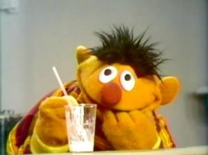 Ernie is paranoid.