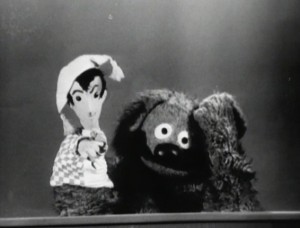 A puppet confuses Rowlf.
