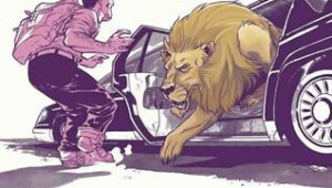 The lion and the limo.