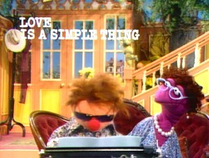 Wally and Mildred in the big Muppet house.