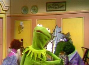 Kermit prepares to take center stage.