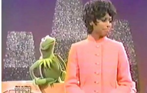 Kermit meets Diahann Carroll.