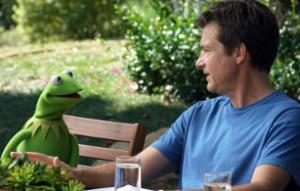 Jason Bateman harangues Kermit.