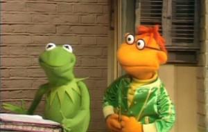 Kermit meets his new gofer.