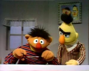 Ernie divides licorice.