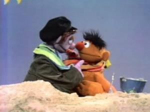 """Tough Eddie """"threatens"""" Ernie."""