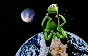 """Kermit sings """"If I Ruled the World""""."""