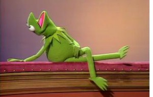 Kermit strikes a pose.