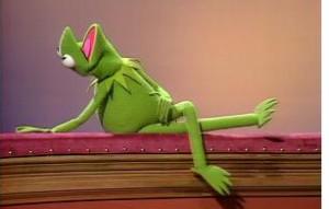 Kermit strikes a pose.